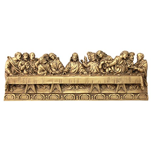 Design Toscano The Last Supper Detailed Version, Leonardo Da Vinci Wall Sculpture