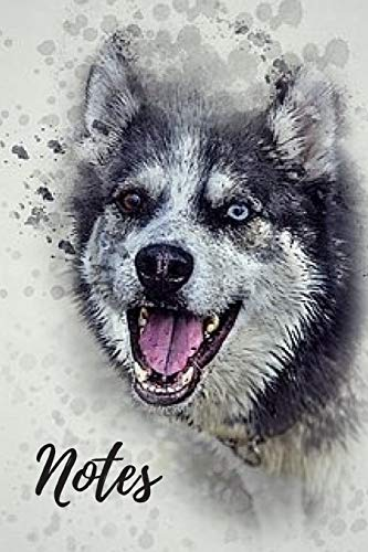 Husky Journal: cute siberian huskies gift for animal and dog lovers (blank lined notebook) best for writing notes and ideas for home use or as a ... / for women who love huskies / notepad