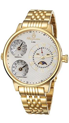 Burgmeister Armbanduhr für Herren mit Analog-Anzeige, Quarz-Uhr mit Edelstahl Armband - Wasserdichte Herrenarmbanduhr mit zeitlosem, schickem Design - klassische Uhr für Männer -BM309-289 Montana