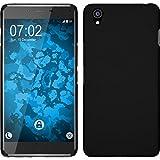 PhoneNatic Case kompatibel mit OnePlus X - Hülle schwarz gummiert Hard-case + 2 Schutzfolien