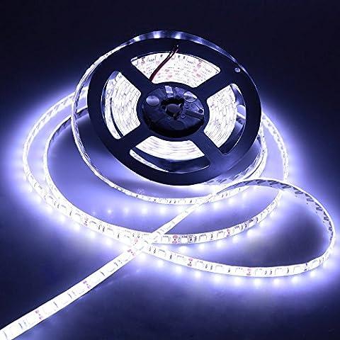 Lixada LED Luz de Tira Flexible Impermeable IP65 SMD 5050 300LEDs 5m 12V