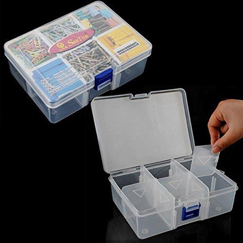 Kicode 6 Gitter Kunststoffteile-Speicher-Fall für Hardware und Handwerk