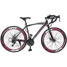 Helliot Bikes Sport_01 Bicicleta de Carretera, Unisex Adulto, Rojo/Negro, Estándar