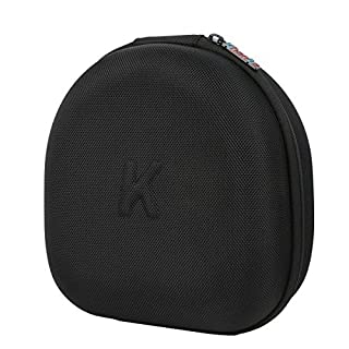 Khanka Hard Case Travel Storage Bag for VersionTech KOTION EACH G2000 USB 3.5mm Game Gaming Headphone Headset Earphone Headband - Black