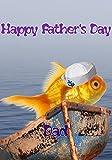 Gold Fisch hs170Süße Hello Sailor Fun Happy Father 's Day Karte A5Persönlichen Grüße Karten geschrieben von uns Geschenke für alle 2016aus Derbyshire UK