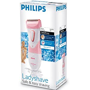 Philips Ladyshave HP6306/00 Wet & Dry Shaver - Battery Operated