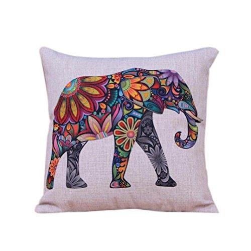 Xinantime Fundas De Cojines, Amortiguador de la Cubierta Funda de Almohada Elefante