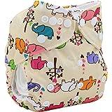 Mummamia Cotton 2 Inserts Cloth Diaper for Babies, 39x35cm (Multicolour, MMCD00520K15)