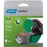 Norton Lot de 5 Disques Pex 8 Trous auto-agrippants expert Diamètre 115 mm Grain 80