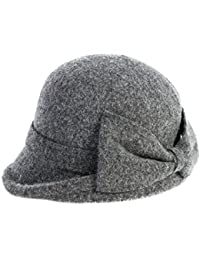 dcebeca0065963 Siggi Womens 1920s Vintage Wool Felt Cloche Bucket Bowler Hat Winter  Crushable