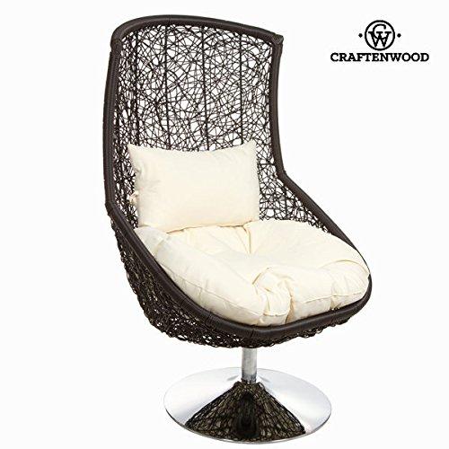 Chaise en rotin noire by Craften Wood