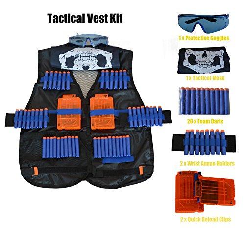 Taktische Weste Jacke Set Nerf N-Strike Elite Set, Nerf Weste,Taktische Weste, Nerf Zubehör Set Kids Tactical Vest