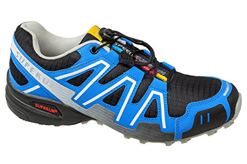 gibra , Chaussures de course pour homme Noir/bleu/gris