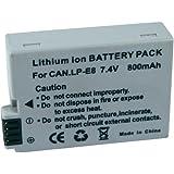 Conrad CANON LP-E8 Lithium-Ion 1080mAh 7.4V batterie rechargeable - batteries rechargeables (1080 mAh, Lithium-Ion (Li-Ion), 7,4 V, Gris, 1)