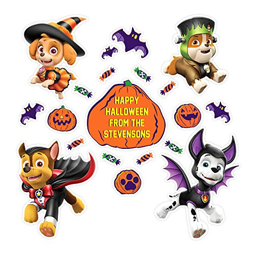 Oliver 's Etiketten Paw Patrol Halloween Wand Wandaufkleber Abziehen und Aufkleben entfernbar Wiederverwendbar Dekoration