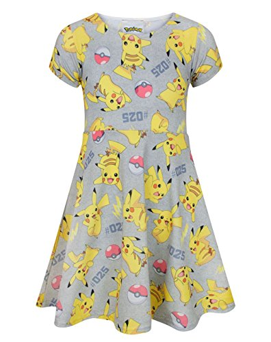 Pokemon Pikachu Girl's Short Sleeved Dress (13-14 (Kleid Pikachu)