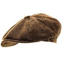 Hawkins Mens Herringbone Baker Jongen Caps Newsboy Hoed Landelijke Stijl Flat Cap