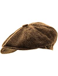 64e13f3d4d6 Mens Herringbone Baker Boy Caps Newsboy Hat Country Style Flat Cap