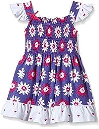 Hatley Girls Smocked Dress- Lady Bug Garden - Robe - Fille