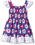 Hatley Girls Smocked Dress- Lady Bug Garden-Vestito  Bambina    Multicoloured (Purple) 2 anni