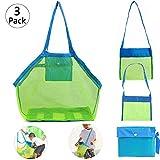3 Pcs Strandspielzeug Tasche (S , M , L) Strandtasche Mesh Beach Bag Sandspielzeug Wasserspielzeug...