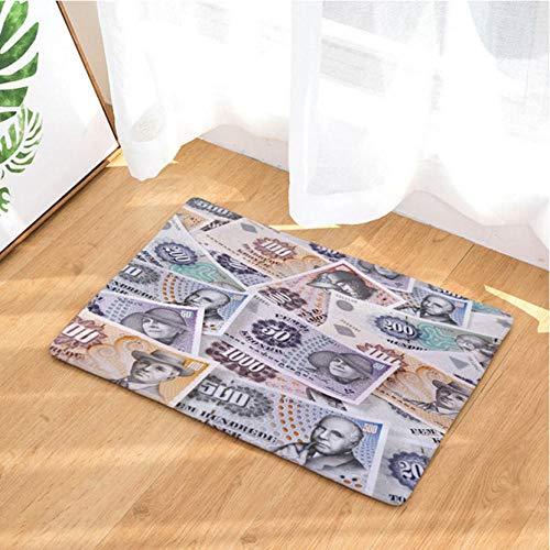 Asbjxny Dollar-Fußmatten-Bad-Matten-Badezimmer-Wolldecken-Küchen-Wolldecken für Inneneinrichtung JHY1230