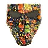 Vhccirt Maschera Protettiva Teschio / Zombie / Reaper Viso Airsoft / Paintball / Maschera Da Motociclista Lenti Grigie Fantasia Decorativa Per Halloween
