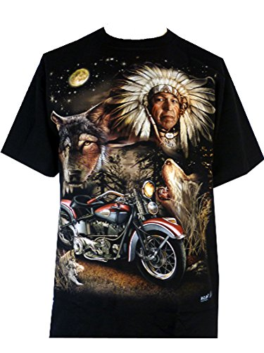 mens-eagle-wolf-biker-native-american-indian-people-moon-motorbike-t-shirt-m-design-4