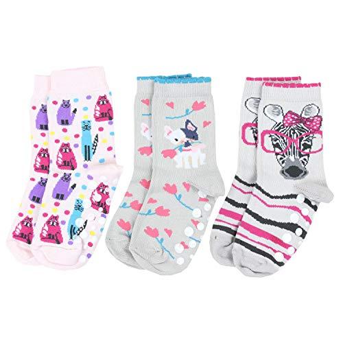 TupTam Unisex Baby Stoppersocken ABS Socken 3er Set, Farbe: Mädchen 2, Größe: 27-30