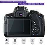 Canon EOS 750D 760D 70D Screen Protector - Fiimi LCD Tempered Glass Screen Protector For Canon EOS 750D 760D 70D,9 H Hardness,0.3mm Thickness,Made From Real Glass (Tempered Glass)