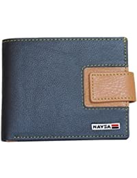 Naysa Men Black Wallets Tan Genuine Leather Wallet (6 Card Slots)