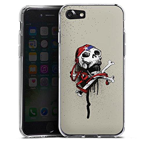 Apple iPhone X Silikon Hülle Case Schutzhülle Pirat Tod Totenkopf Silikon Case transparent