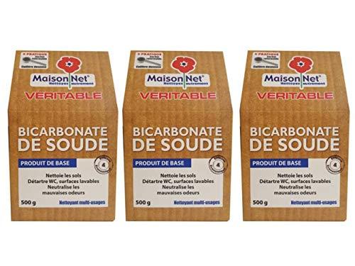 Maison Net Bicarbonate de Soude 500 g - Lot de 3