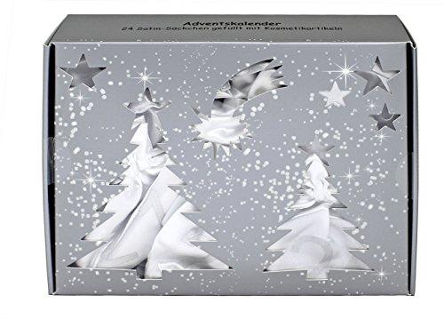 BriConti Adventskalender 'Satin Bags' weiß/silber