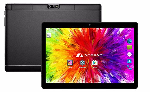 ACEPAD A96 10 Zoll (9.6) Tablet PC 3G (Dual-SIM) 48GB IPS HD 1280×800 Quad Core Android 5.1 WIFI WLAN USB SD (Schwarz) - 3