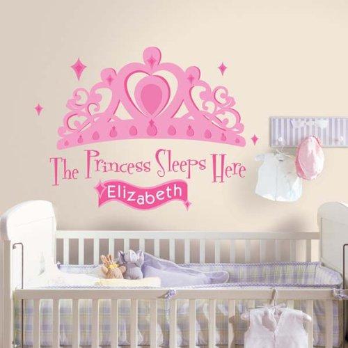 RoomMates RMK1787GM Raumdekor Princess mit eigenem Namen