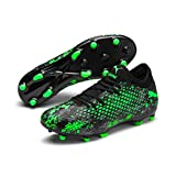 Puma Future 19.4 FG/AG, Chaussures de Football Homme, Noir Black-Charcoal Gray-Green Gecko, 42.5 EU