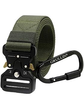 GRULLIN Heavy Duty Táctico Cinturon, Estilo Militar Web Reggers Cinturon, CQB Quick-Release Metal Hebilla Cinturón...