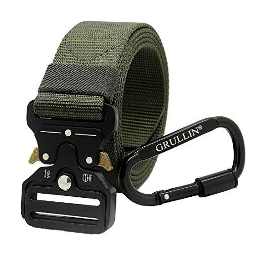 GRULLIN Taktische Pflicht Rigger Gürtel, MOLLE militärischen Schnellverschluss Schnalle Taillenband, Nylon Web EDC Waistbelt (2018Army Green) -