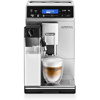 De'Longhi Autentica Cappuccino ETAM29.660.SB Bean to Cup, Silver and Black