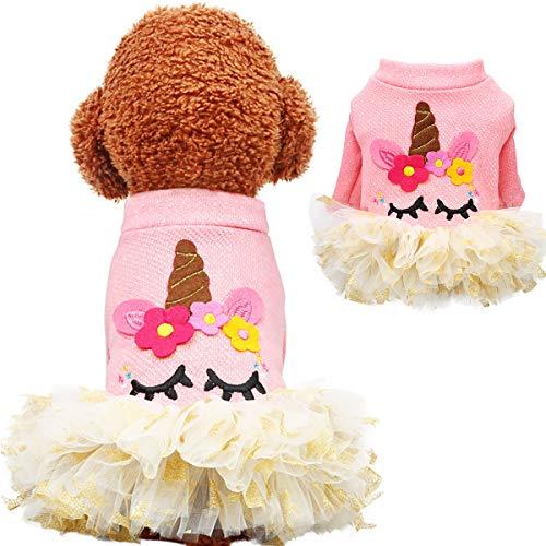 Supfirefly Halloween Pet Kleid, Cosplay Einhorn Hund Kostüm Mantel, Haustier Kleidung Hoodie für Hunde und Katzen
