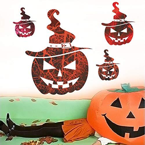 Wandaufkleber Halloween Dekoration Lächeln Gesicht Kürbis Wandaufkleber Abziehbilder Wohnzimmer Schlafzimmer Wandtattoos Shop Kühlschrank Fenster Dekor