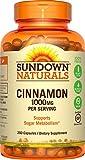 Sundown Naturals Cinnamon 1000 Mg Capsules Value Size, 200 Count by Sundown Naturals (English Manual)