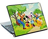 Unbekannt Laptop Sticker 27,5 cm * 36,5 cm Kürzbar - Disney Mickey Mouse Kinder Donald Duck Aufkleber Folie - Notebook / Notebooksticker - Playhouse