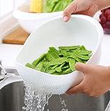 #5: ZZ ZONEX Rice Pulses Fruits Vegetable Noodles Pasta Washing Bowl & Strainer