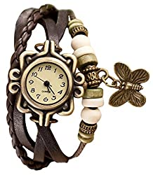 Shvas Analog Off-White Dial Women's Watch (ROBROWN)