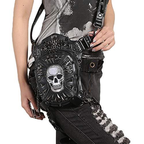 Unisex Gothic Steampunk Casual PU Satchel Crossbody Mini Außengröße Multifunktions Tactical Sling Beintasche - Mini-satchel