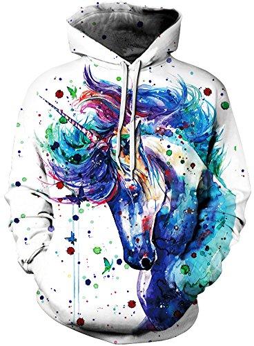 TDOLAH Herren Slim Fit Kapuzenpullover 3D Druck Sweatshirt Pullover (Größe S / M, Ölfarbe...