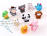 Covermason Finger 10pcs animal Puppet peluche enfant bébé Early Education Jouets cadeau