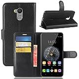 Oukitel U15 Pro Wallet Case, Danallc Oukitel U15 Pro Flip Case, Classy Slim Leather Wallet, ID Credit Card Slot Holder For Oukitel U15 Pro - Black